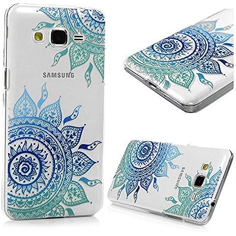 Samsung Galaxy Grand Prime G530 Funda Cubierta - Lanveni Elegante Carcasa Rigida PC ultra delgada para Samsung Galaxy Grand Prime G530 Pintura translúcido Protective Case Cover - Patrón Tótem diagonal Diseño