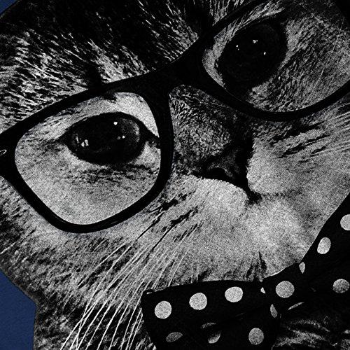 Hipster Katze Mann Spaß Stadt Kätzchen Damen S-2XL Muskelshirt | Wellcoda Marine