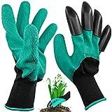 Guanti da giardino Genie con 4 punte delle dita, Maxin giardino braccianti artiglio mano destra per scavare e piantare. veRde)