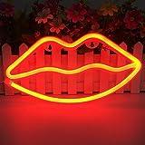 QiaoFei LED Lippen geformt Neon Signs romantische Kunst dekorative Lichter Wand-Dekor für Studio Party Kinderzimmer Wohnzimme