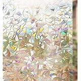 ملصق غشاء نافذة زخرفي خصوصي ثابت ثلاثي الابعاد خالي من الغراء ملصق غشاء زجاجي لمنع الاشعة فوق البنفسجية والتحكم في الحرارة مل