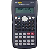 Deli WD82DMS Scientific Calculator with 240 Functions and 2 Line LED Display | ANS Function, Fractional Arithmetic…
