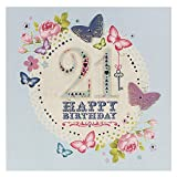 Hallmark 21st Birthday Card For Her 'Congratulations' - Large Square