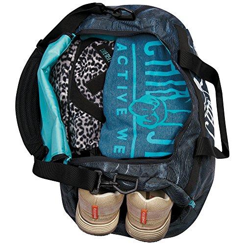 Chiemsee Reisetasche Sporttasche Matchbag Medium, schöne leichte trendige Reisetasche/Freizeittasche mit Schuhfach Grandiloquent Meteor