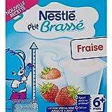 NESTLE P'tit Brassé Fraise - 8 x 100g