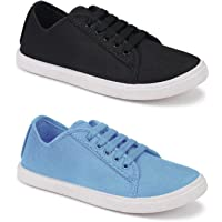 Shoefly Combo Pack of 2 Latest Collection Stylish Casual Loafer Sneakers Shoes for Women