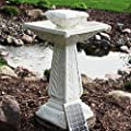 Large Victorian Solar Powered Outdoor Bird Bath Water Fountain Feature Pond Cascade Garden F1 by CSS