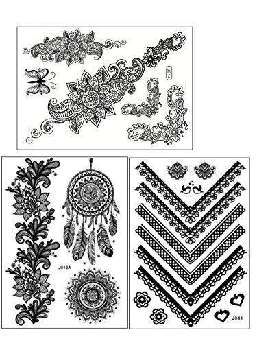 chictats-tatuaggi-temporanei-merletto-nero-kit-3-fogli-body-art-gioielli-scintillanti-per-donne-bamb