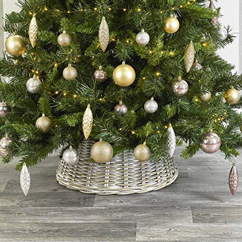 URBNLIVING - Faldas de Mimbre para árbol de Navidad (26 x 50 x 50 ...