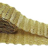 Indian Fronteriza de encaje 4,3 cinta bordada ancha Cm Recorte Beige Supply By The Yard