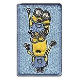Aufnäher/Bügelbild - MINIONS 'BOB & KEVIN' - blau - 8x5cm - by catch-the-patch Patch Aufbügler Applikationen zum aufbügeln Applikation Patches Flicken