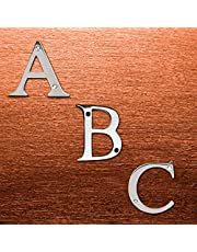 "Wigano 3""Inch Brass Chrome Finish Stylish !!House !!Flat !!Door Numbers Alphabets (Alphabet C)"