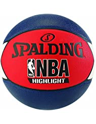 Spalding Uni NBA Highlight Outdoor SZ.7(83–573z) Basketball, Navy/Rosso/Bianco, 7.0