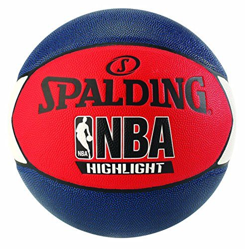 Spalding NBA Highlight Outdoor 83-573Z Balón de Baloncesto, Unisex, Azul Marino / Rojo / Blanco, 7