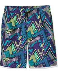 Speedo Boys' Electro Camo Printed Leisure 17 Inch Watershort