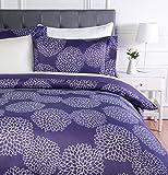 AmazonBasics - Juego de ropa de cama con funda de edredón, de microfibra, 135 x 200 cm, Floral...