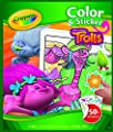 "Crayola 04-6921-0-000 ""Trolls Colour N Sticker"" Book"