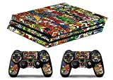 Skin Ps4 PRO - AUFKLEBER BOMBARDIEREN 2 - limited edition DECAL COVER Schutzhüllen Faceplates playstation 4 SONY BUNDLE - VINYL POLIERTEN
