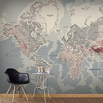 1wall stunning digital colour world map wallpaper wall mural non woven premium wallpaper wall mural wall decoration art print poster picture photo hd print modern decorative world map k a 0061 a c gumiabroncs Gallery