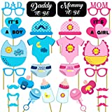 #7: Party Propz Baby Shower Photobooth Props Set of 28 Pieces / Baby shower photo booth / Baby shower party props / Baby shower photo props / Baby shower props for photo booth