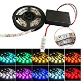 iNextStation® 120LED SMD 5050 LED Waterproof Strip String Light 5V Battery Box Lamp (2.0M, RGB)