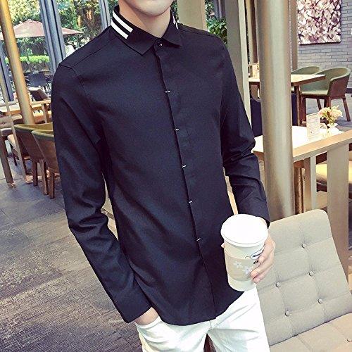 Moda Maschile Camicia _ Leisure Slim La Camicia black