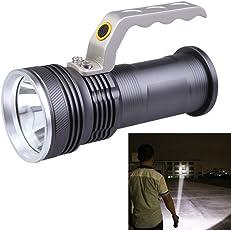 FUN n SHOP Long Range Rechargeable Aluminum LED Heavy Duty Waterproof Torch