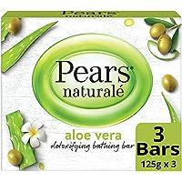 Pears Naturale Aloe Vera Detoxifying Soap Bar, 125 g (Pack of 3)
