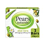 Pears Naturale Aloe Vera Detoxifying Soap Bar, 125 g (Pack of 3)