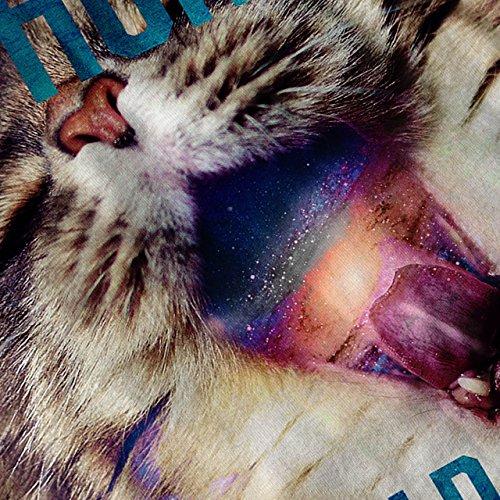 Hungrig Galaxis Katze Komisch Schwarz Loch Damen Schwarz S-2XL Muskelshirt | Wellcoda Rot