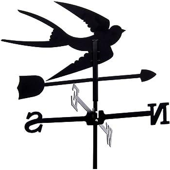 Wetterfahne Model Hexe groß Windfahne aus Stahl Windspiel für Garten
