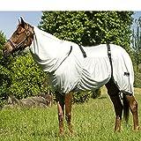 Funda transpirable antimoscas para caballos de la marca Best On Horse. Protección al aire libre que evita el eczema, gris, UK 4'0 / EU 80cm / 48'