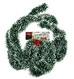HAAC künstliche Girlande Tannengirlande Tanne grün / weiß Länge 2,7 Meter Weihnacht Weihnachten