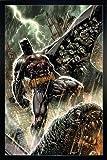 DC Comics Poster Batman Bloodshed (66x96,5 cm) gerahmt in: Rahmen Schwarz