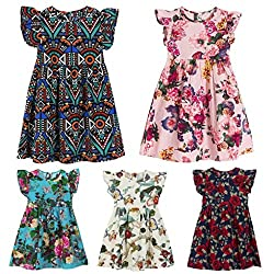 Clearance Sale!OverDose Toddler Kids Baby Girls Floral Sleeveless Princess Formal Party Dress