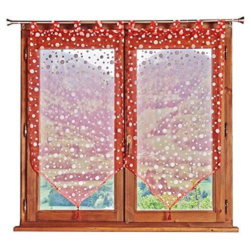 vitrages-2-rideaux-a-pois-60x90cm-rouge