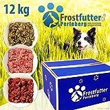Frostfutter-Perleberg 12Kg Highlight Paket inklusive Grüner Pansen, Blättermagen, Power-Mix, Rindfleisch-Mix mit Pansen, Rindfleisch-Mix (Gulasch), Huhn (gewolft)