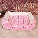 BiuTeFang Pet Bolster Dog Bed Comfort Pet Nest Warm Kennel Pet mat