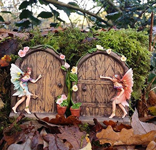 Set-of-2-Sparkle-Fairy-Door-Garden-Home-Ornament