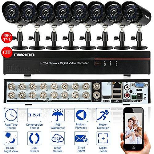 OWSOO 16CH Full CIF 800TVL CCTV Sorveglianza