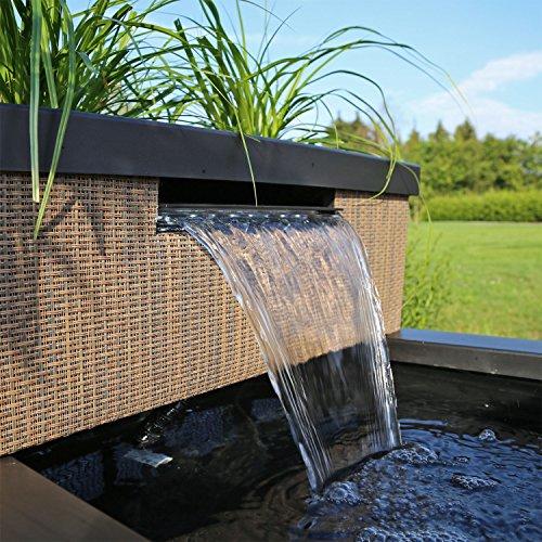Clgarden Miniteich Set Mtws1 Mit Wasserfall Led Beleuchtung Mini