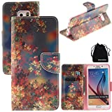 S6 Edge Plus Case, DRUnKQUEEn PU Leather Credit Card Holder Case Stand Feature Wallet Type Flip Folio Cover - for G928 Samsung Galaxy S6 Edge+ Plus