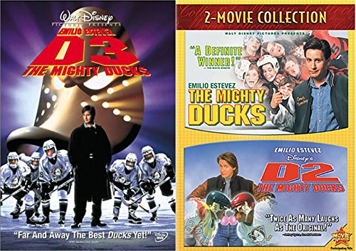 Disney Hockey Series 1 / 2 / 3 The Mighty Ducks Movie Trilogy Team Bundle action Family Fun Triple feature Collection -