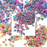 rosenice Fiore della Frutta Lascia decorazioni della rebanada per el arte del chiodo Que Se Pega al Limo DIY Crafts 3confezioni