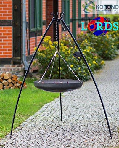 142Edelstahl schwarz 70cm Grill über Stativ Auktion 5mm/Rahmen 20x 4mm manuell hochwertige Arbeit in Polen