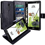 LG Stylus 2 Plus Hülle, LK Luxus PU Leder Brieftasche Flip