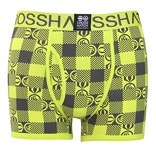 CrossHatch Herren Boxershorts Checkham, 3er Pack checkham - Schmiedeeisen