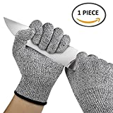 #8: EzLife Knife Cut Resistant, Hand Safety Gloves for Kitchen, Industry, Sharp Items, Gardening, Multipurpose, Etc - Set of 1 - (1 Piece)
