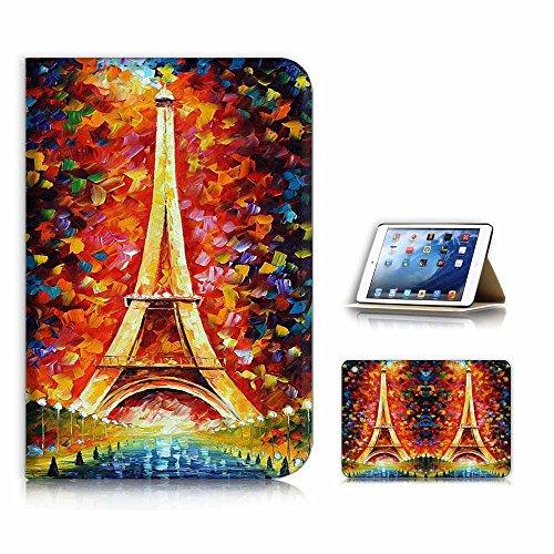 (für iPad Mini 123, Generation 1/2/3) Flip Case Cover & Displayschutzfolie Bundle-a21055Eiffelturm Paris (Ipad Mini 3 Cover Paris)