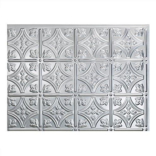 fasade einfach Installation Traditionelles 1aus gebürstetem Aluminium Panel Duett für Küche und Badezimmer (45,7x 61cm Panel)